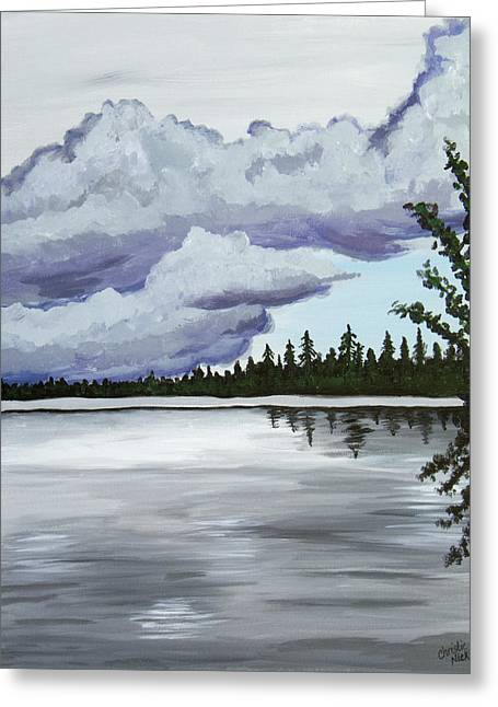 Mirror Lake Greeting Card by Christie Nicklay