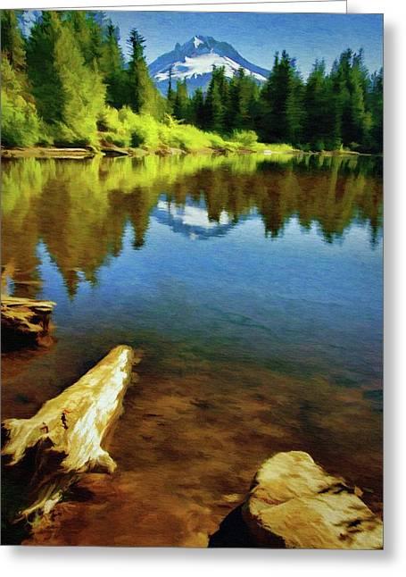 Mirror Lake - Mount Hood Greeting Card