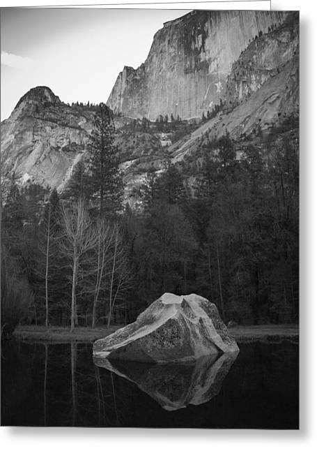 Mirror Lake Rock Greeting Card