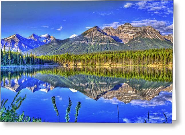 Mirror Lake Greeting Card by Scott Mahon