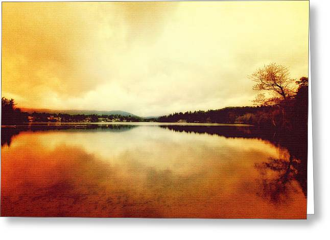 Mirror Lake At Sunset Greeting Card