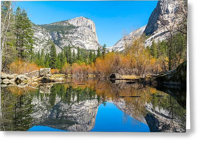Mirror Lake Yosemite Np Greeting Card