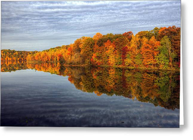 Mirror Mirror On The Fall Greeting Card by Edward Kreis