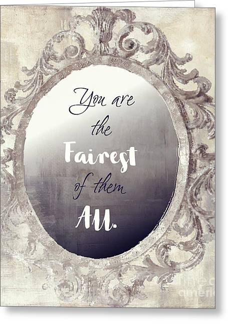 Mirror Mirror On The Wall Greeting Card by Mindy Sommers