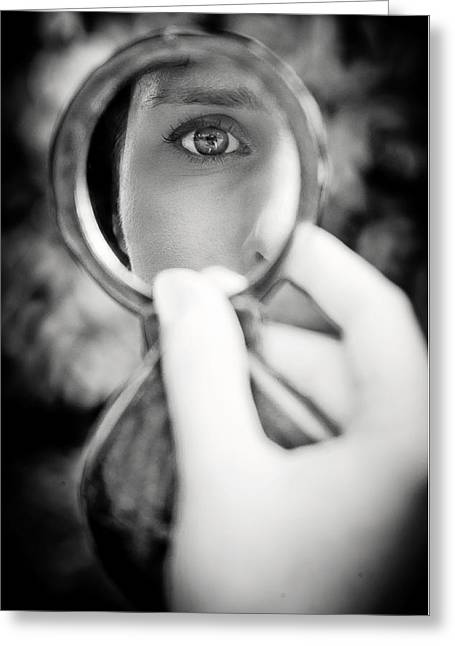Mirror Reflection Greeting Card by Loriental Photography