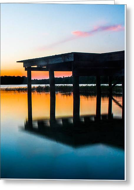 Mirror Sunset Greeting Card by Parker Cunningham