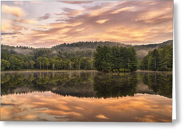 Bass Lake Sunrise - Moses Cone Blue Ridge Parkway Greeting Card