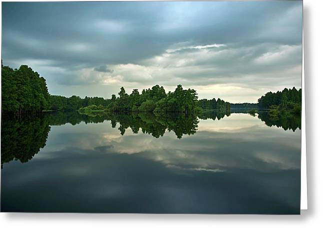 Hillsborough River Greeting Cards - Mirrored River at Sunset Greeting Card by Carolyn Marshall