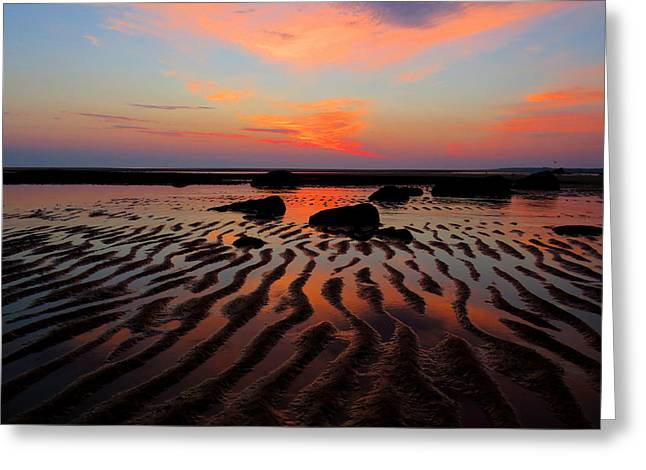 Mirrored Sky Greeting Card by Dianne Cowen
