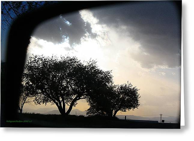 Mirrored Sunset Greeting Card by KatagramStudios Photography