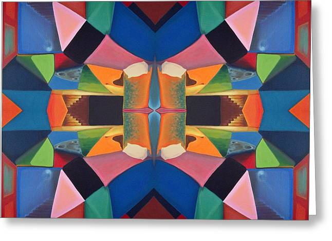 Mirrors In The Dream Room Greeting Card by Clemens Greis