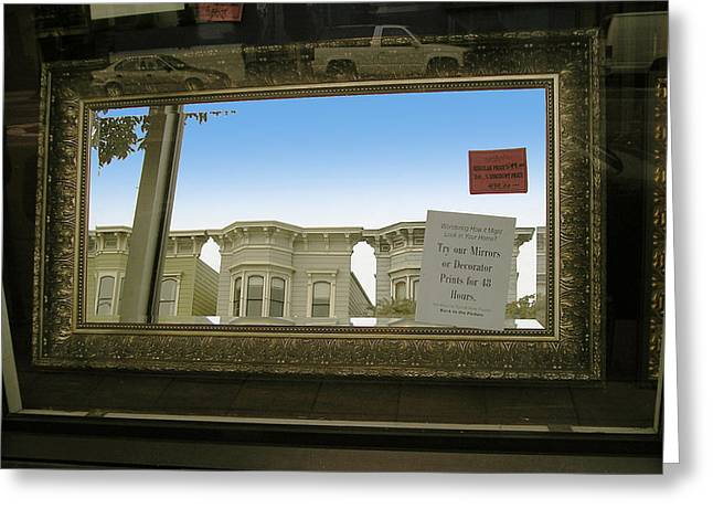 Mirrors Greeting Card by Tom Hefko