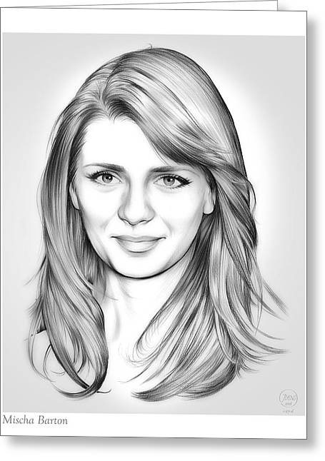 Mischa Barton Greeting Card by Greg Joens