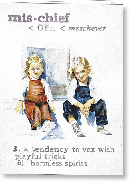 Mischief Greeting Card by Janice Crow
