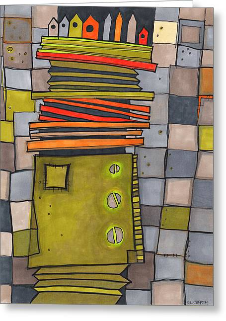 Misconstrued Housing Greeting Card by Sandra Church