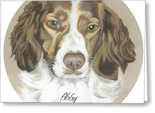 Greeting Card featuring the painting Miss Abby by Carol Wisniewski