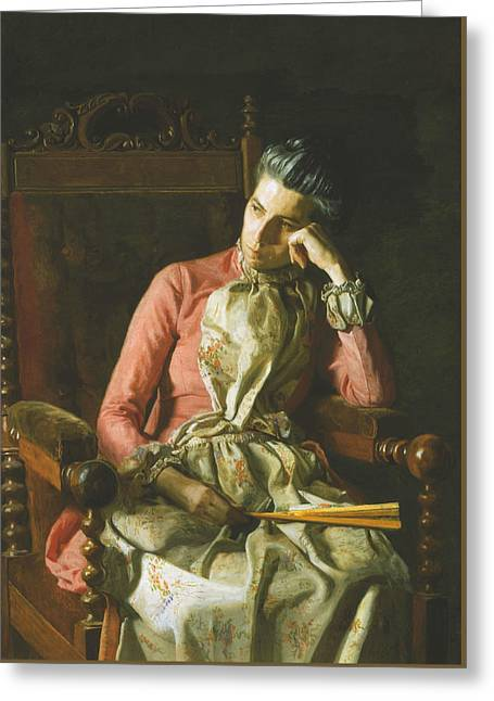 Miss Amelia Van Buren Greeting Card by Thomas Eakins