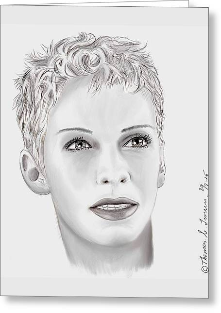 Miss Annie Lennox  Greeting Card by ThomasE Jensen