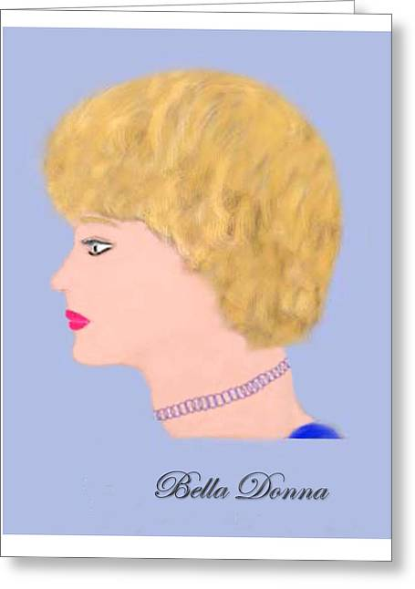 Miss Bella Donna Greeting Card by Jerry White