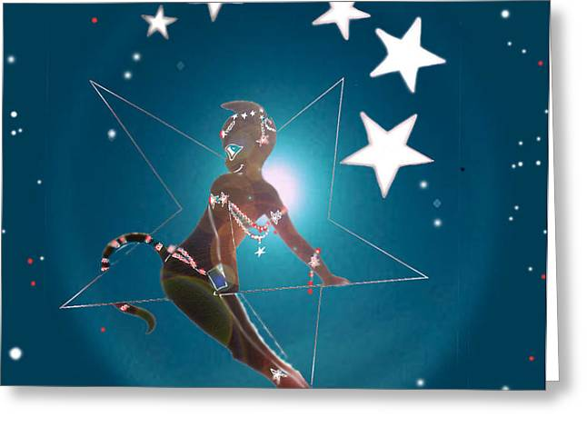Miss Fifiswinging On A Star Greeting Card by Silvia  Duran