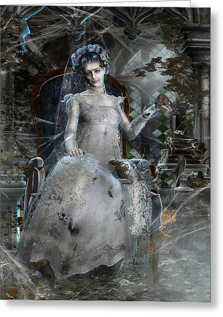 Miss. Havisham Greeting Card by Mary Hood