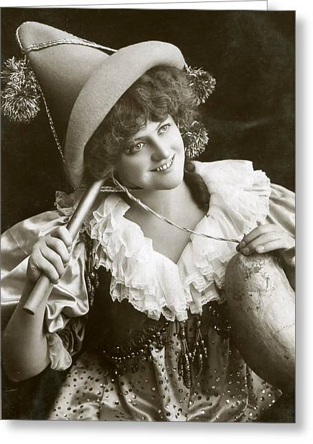 Miss Marie Studholme As Lady Madcap 1905 Greeting Card by Sarah Vernon