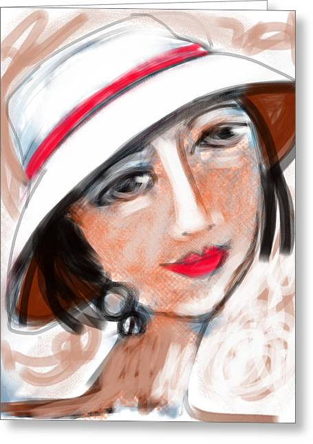 Miss Mary Greeting Card by Elaine Lanoue
