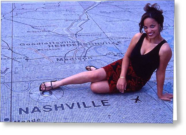 Miss Nashville Greeting Card by Randy Muir