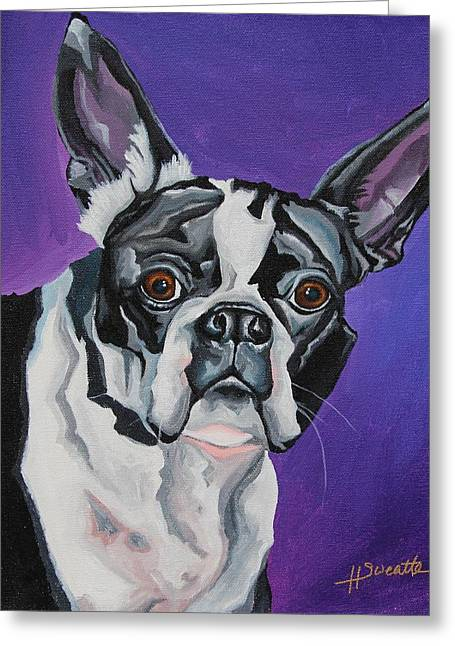 Miss Oreo Greeting Card by Heather Sweatte