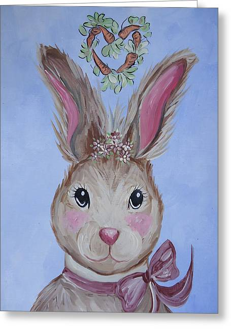 Miss Pearl Greeting Card by Leslie Manley