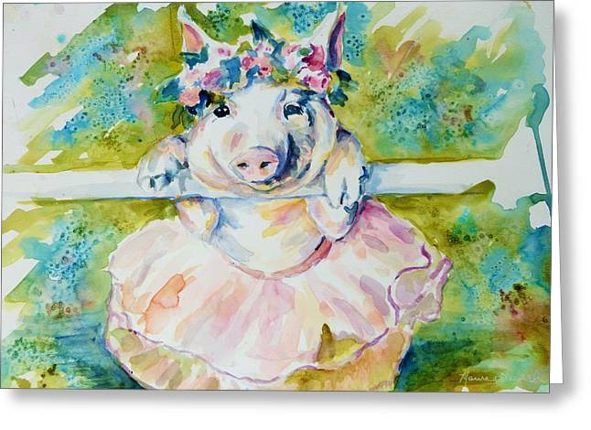 Miss Piggy At The Bar Greeting Card
