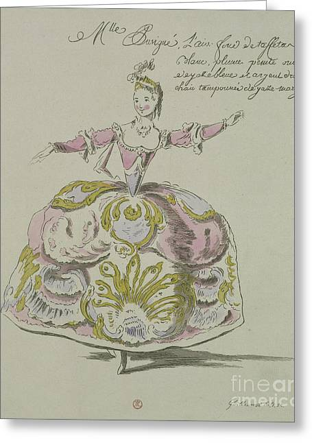 Miss Puvigne As Air, In Zoroastre, A Libretto By Cahusac Greeting Card