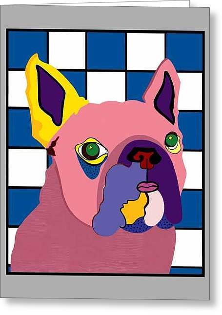 Miss Rose The French Bulldog Greeting Card