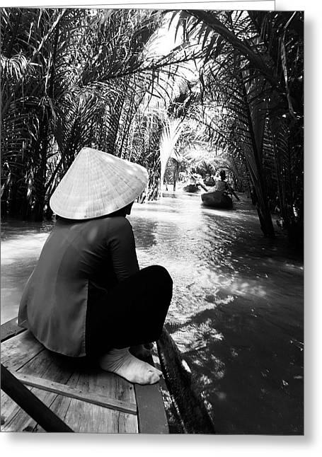 Miss Saigon Greeting Card by Agnes Czekman