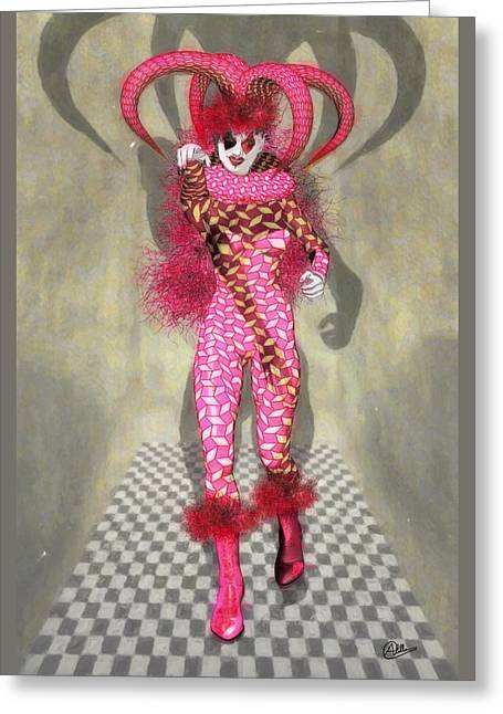 Miss Scarlet Greeting Card
