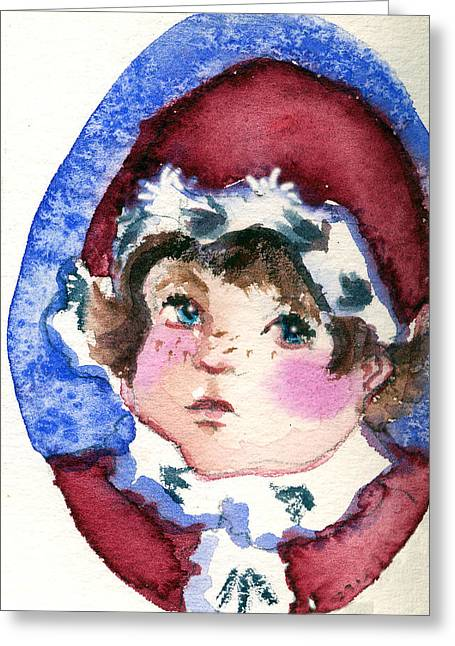 Miss Sugar Plum Greeting Card by Mindy Newman