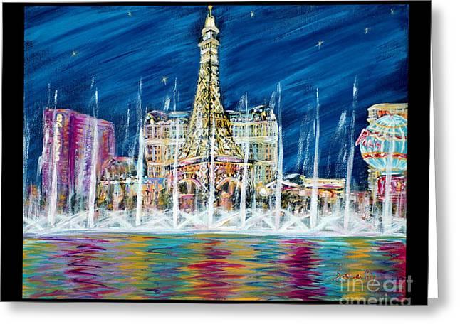 Miss You Las Vegas. Beautiful City View Greeting Card