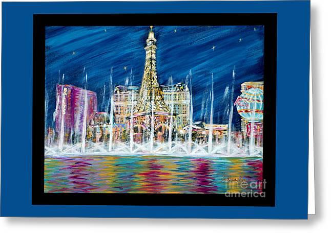 Miss You Las Vegas. Beautiful City View Greeting Card