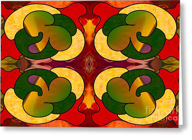 Missing Pieces Abstract Art By Omashte Greeting Card by Omaste Witkowski