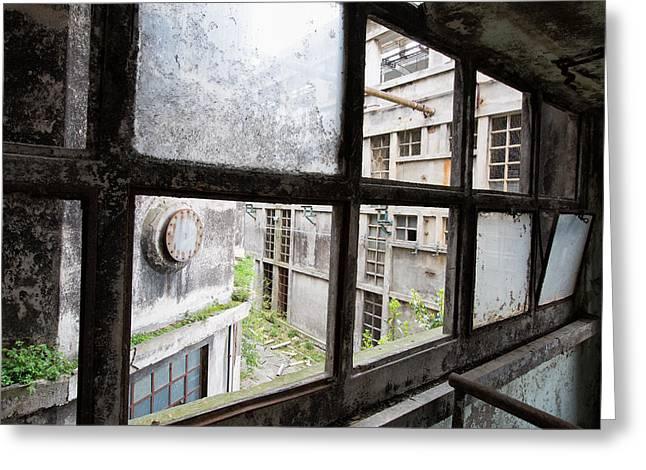 Missing Windows - Urban Decay Greeting Card by Dirk Ercken