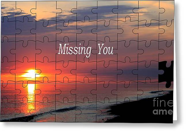 Missing Greeting Cards - Missing You Greeting Card by Stefan Kuhn