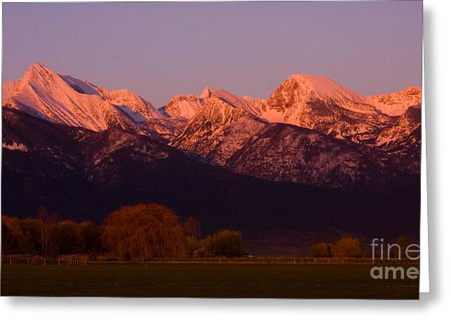 Mission Alpenglow Greeting Card