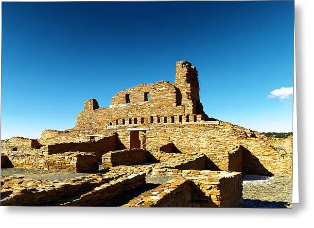 Mission At Abo In New Mexico Greeting Card by Jeff Swan