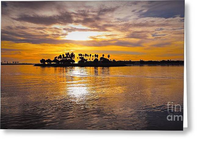Mission Bay Purple Sunset By Jasna Gopic Greeting Card by Jasna Gopic