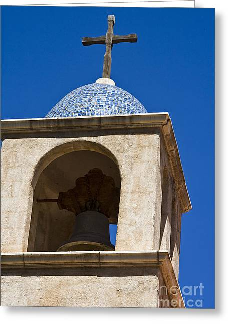 Mission Bell Tower Greeting Card by Tim Hightower