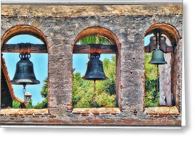 Old San Juan Prints Greeting Cards - Mission Bells Greeting Card by Diane Wood