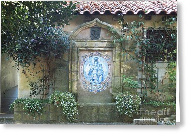 Mission Carmel Court Yard Greeting Card