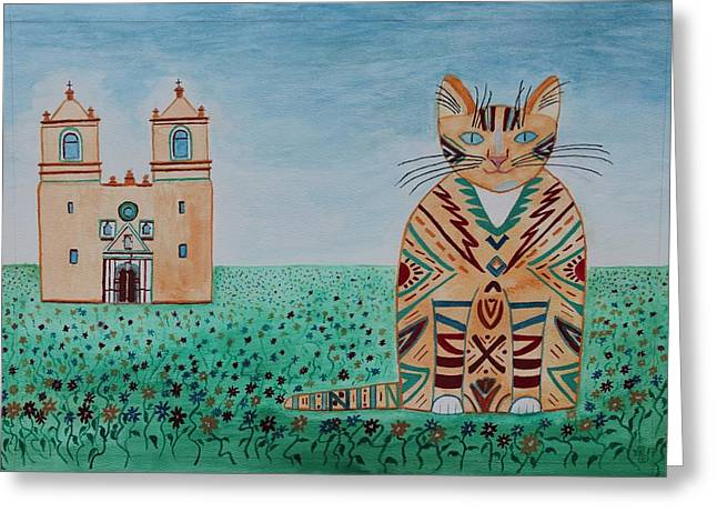Mission Concepcion Cat Greeting Card
