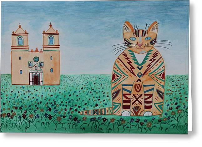 Mission Conception Cat Greeting Card