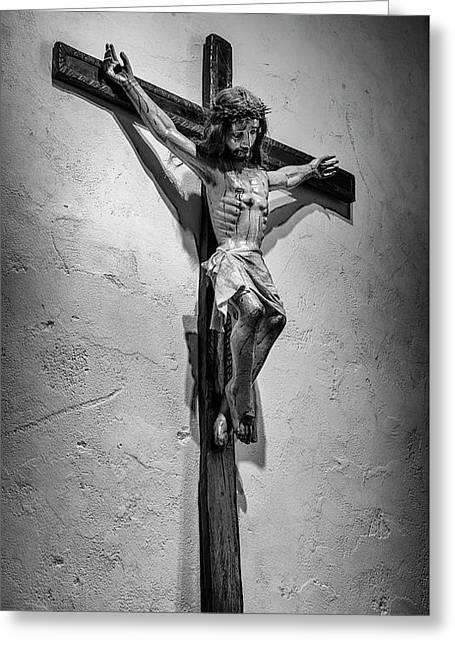 Mission Espada Crucifix Greeting Card